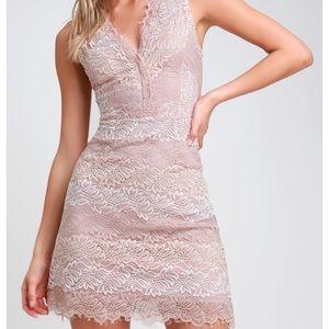 Lulus sweetest desire blush bodycon dress